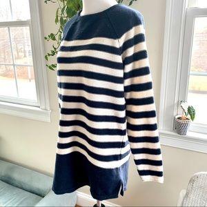 Free People Beach Navy / White Striped Sweater M